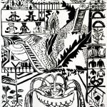 """Paradies"", 2013, woodcut"